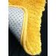 Круглый желтый ковёр шегги Mustard Spicy