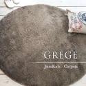 Круглый пушистый ковёр капучино с длинным ворсом JumKids Sweet Grege c высоким ворсом