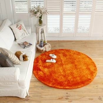 Ковер круглый \ мягкий \ оранжевый Round Orange Carpet - JUMKIDS