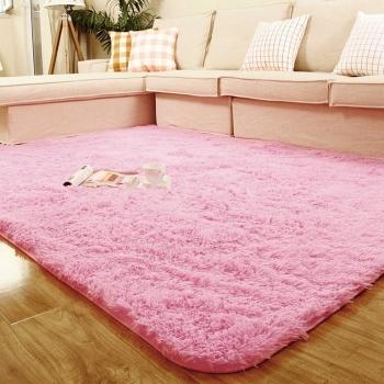 Мягкий розовый ковер \ коврик в комнату на пол