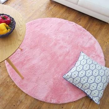 Розовый круглый ковер для девочек в детскую комнату Sweet Pink