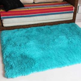 Голубой прикроватный коврик с пушистым высоким ворсом JumKids Sweet Blue