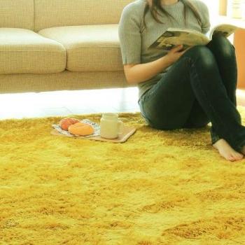 Желтый ковёр шегги Mustard Spicy