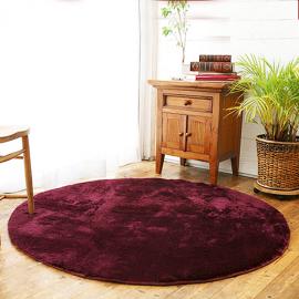 Фиолетовый круглый пушистый ковер JumKids Sweet Violet